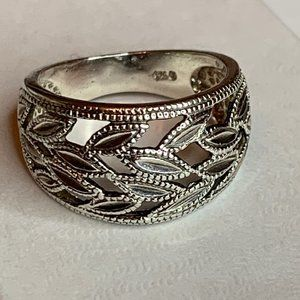 Sterling 925 Open Filigree Ring - Size 5.5